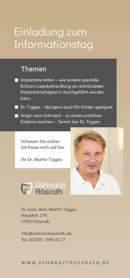 Zahnarzt Rösrath Patienten Informationstag 9. Nov. 2019 - Einladung